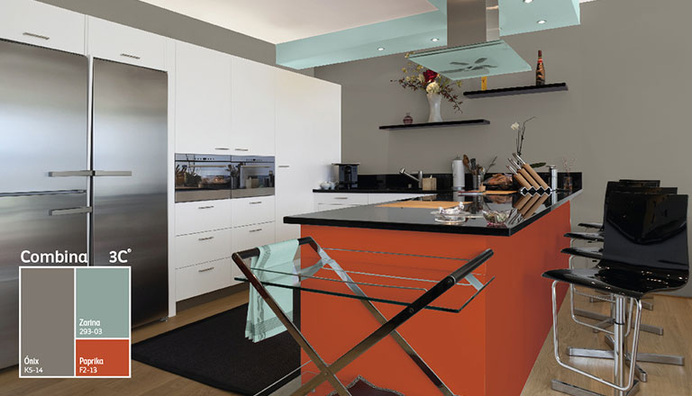 Crea tu cocina perfecta comex - Colores de pintura para cocinas modernas ...