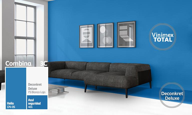 Pinturas para interior y exterior impermeabilizante y m s for Colores de pintura azul