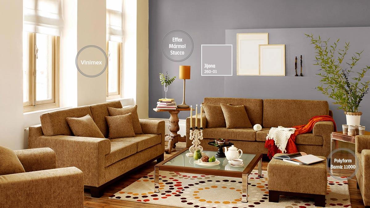 Decoraci n de espacios para salas comex for Colores para sala