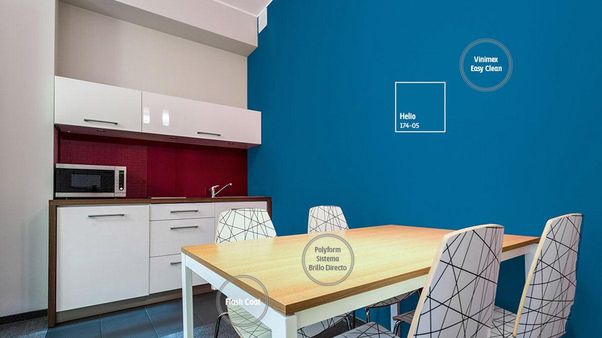 Decoraci n de espacios para cocinas comex - Gamas de colores azules ...