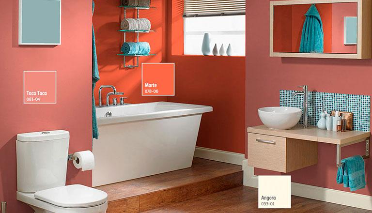 Decora y transforma tu ba o comex - Combinaciones de colores de ceramicas para banos ...