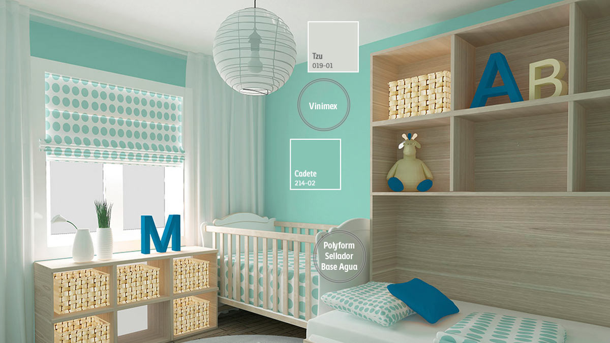 ideas de color de habitación de bebé Decoracin De Espacios Para Bebs Comex