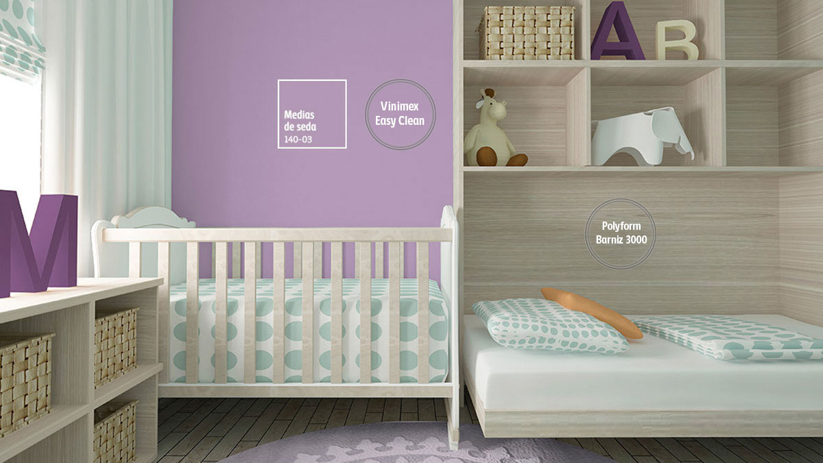 Decoraci n de espacios con colores violeta comex Colores violetas para paredes