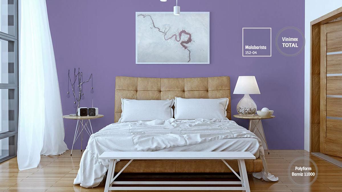 Decoraci n de espacios con colores violeta comex - Gama de colores morados ...