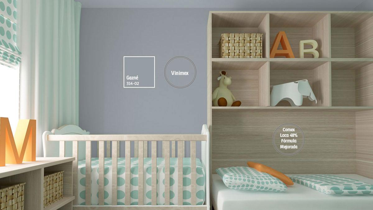 Decoraci n de espacios con colores grises comex for Pintura gris para interiores