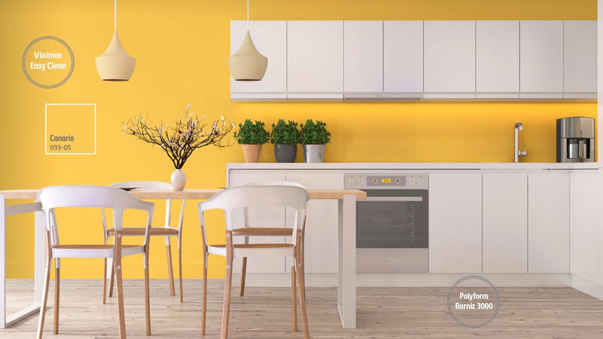 Decoraci n de espacios con colores amarillos comex for Pintura de interiores precios
