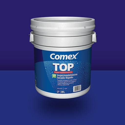 Impermeabilizante top secado r pido 10 a os comex - Impermeabilizante para paredes ...