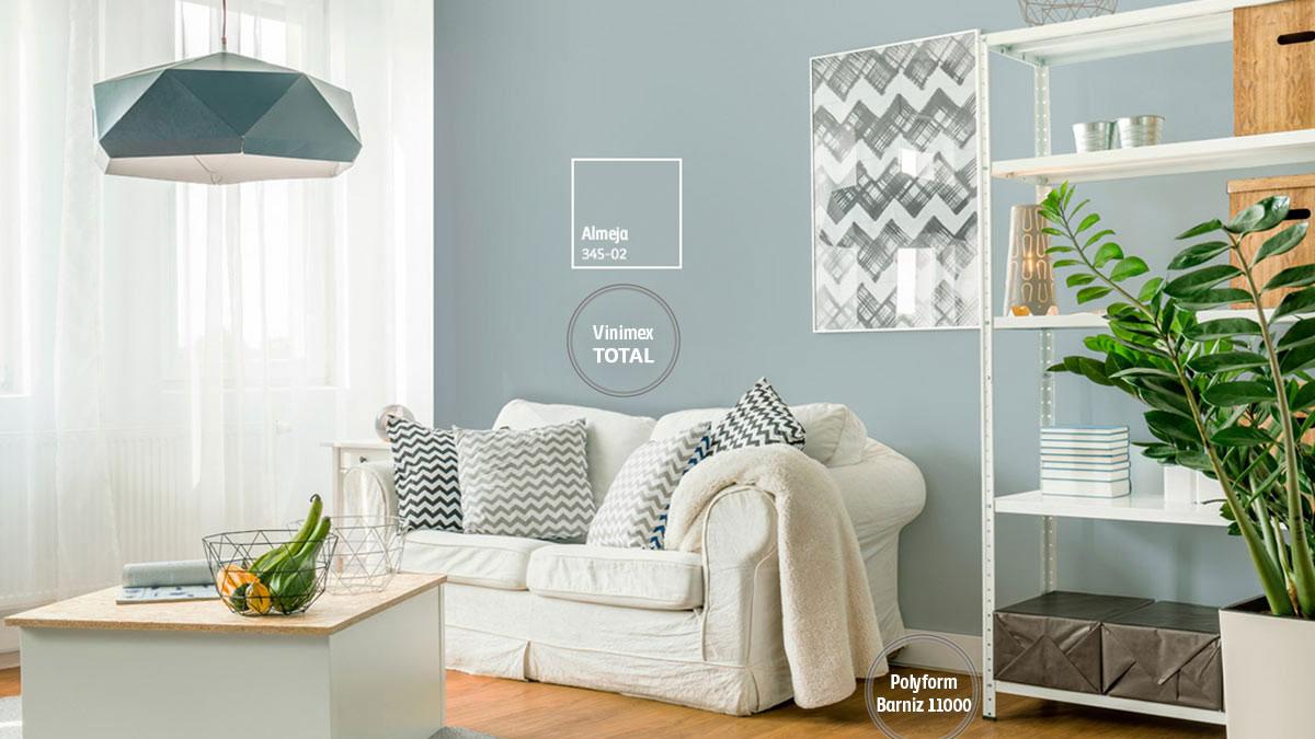 Decoraci n de espacios con colores grises comex for Pintura interior gris perla
