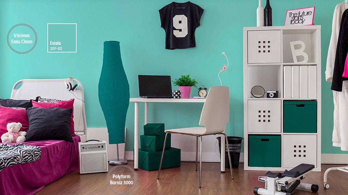 Decoraci n de espacios con colores turquesas comex App decoracion interiores