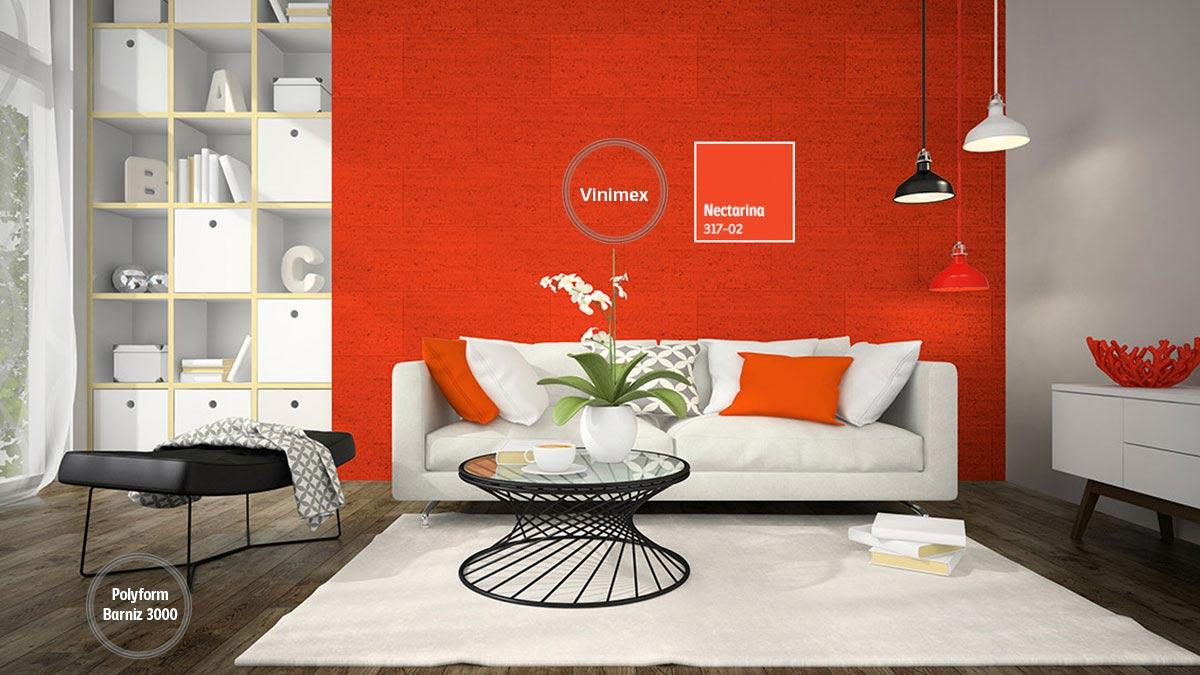 Decoraci n de espacios para salas comex - Colores tierra para paredes interiores ...