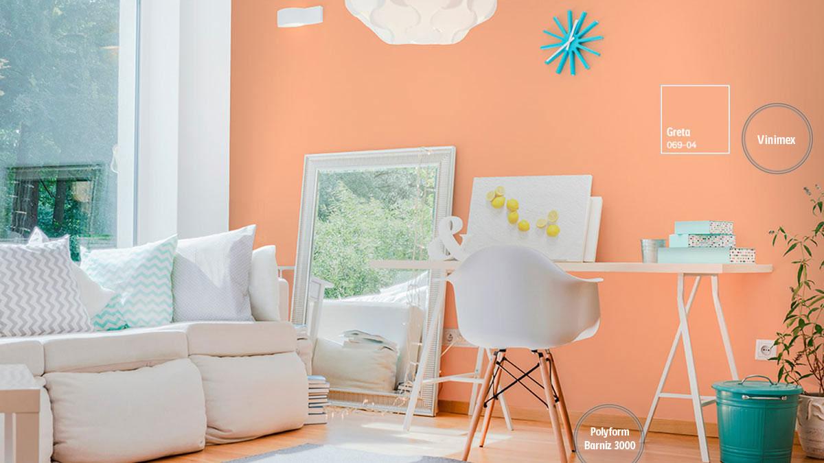 Decoraci n de espacios con colores naranjas comex for Pintura naranja para cocina