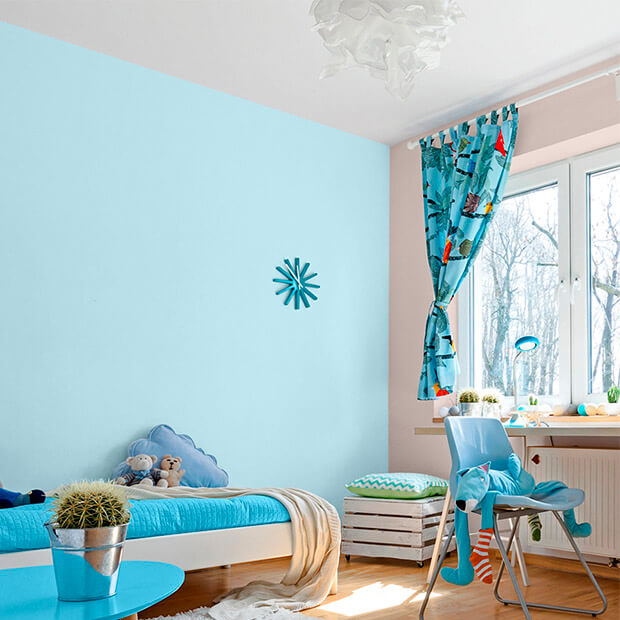 decoraci n de espacios con colores azules comex