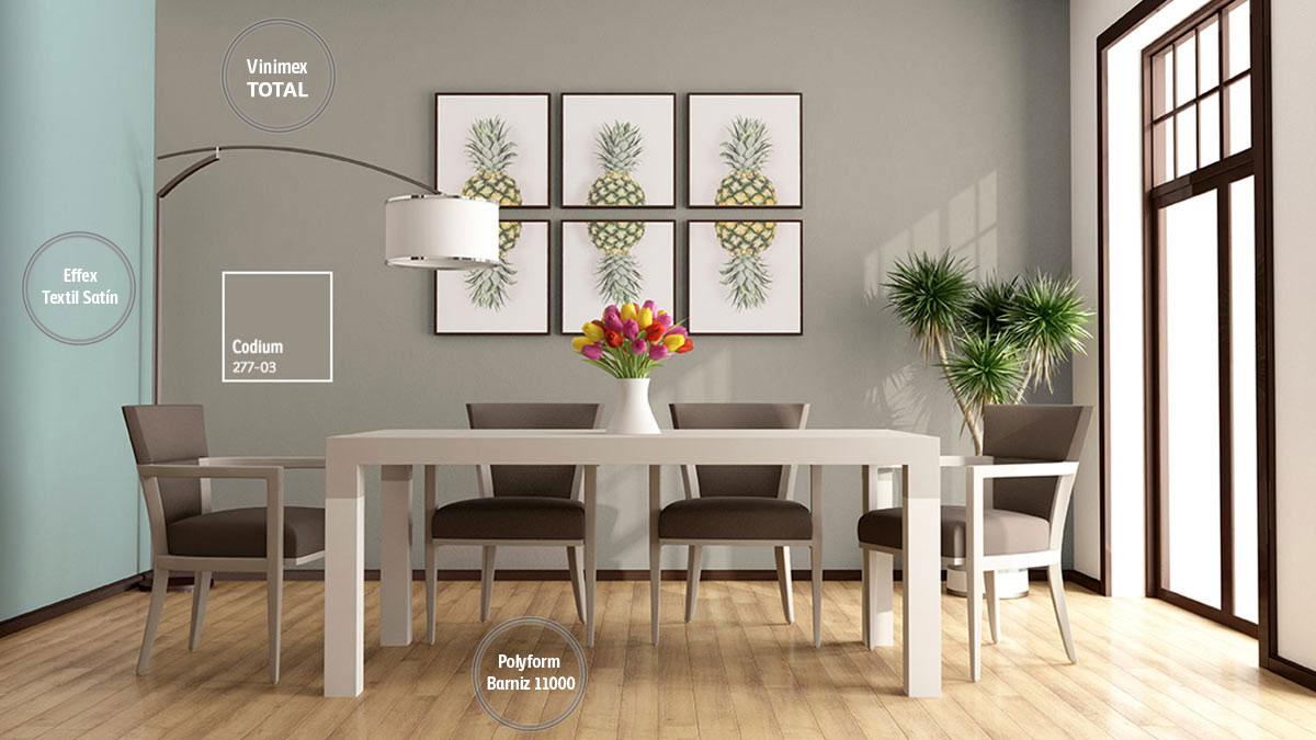 Decoraci n de espacios con colores neutros comex for Pintura gris para interiores