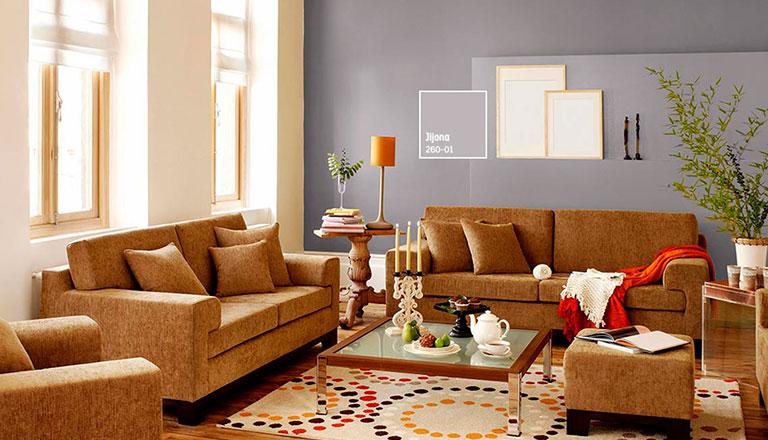 Dale vida con color y armoniza tu sala comex for Combinacion de colores para sala comedor