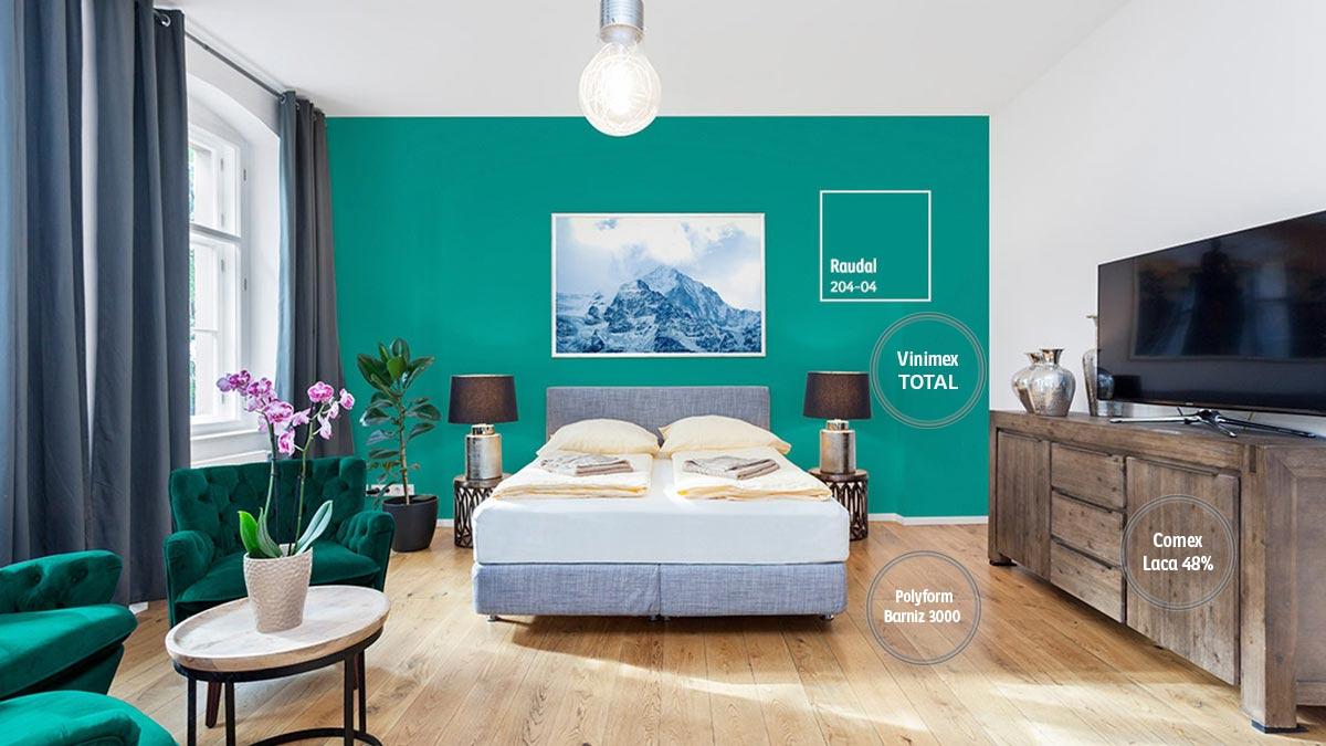 Decoraci n de espacios para rec maras comex for Idea decorativa sala de estar pequeno espacio