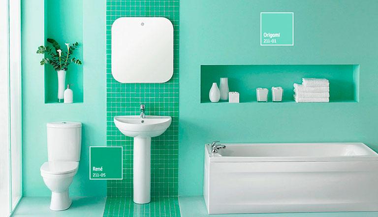 Decora y transforma tu ba o comex - Combinaciones de azulejos para banos ...