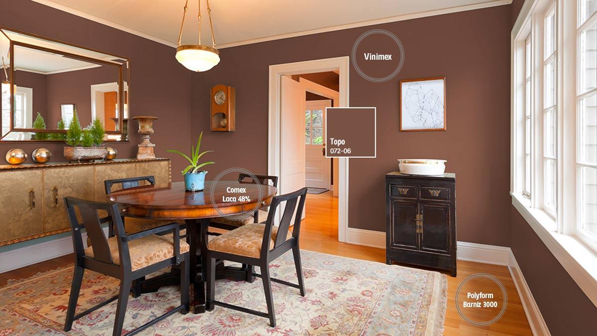 Decoraci n de espacios para comedores comex for Ejemplo de color de pintura de cocina